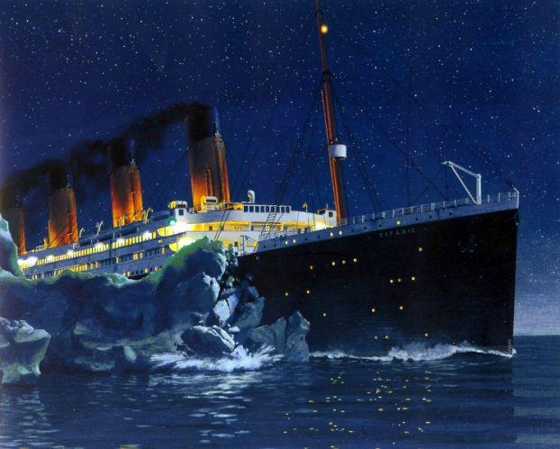 03 - On April 14th at 1140 PM Titanic struck an iceberg