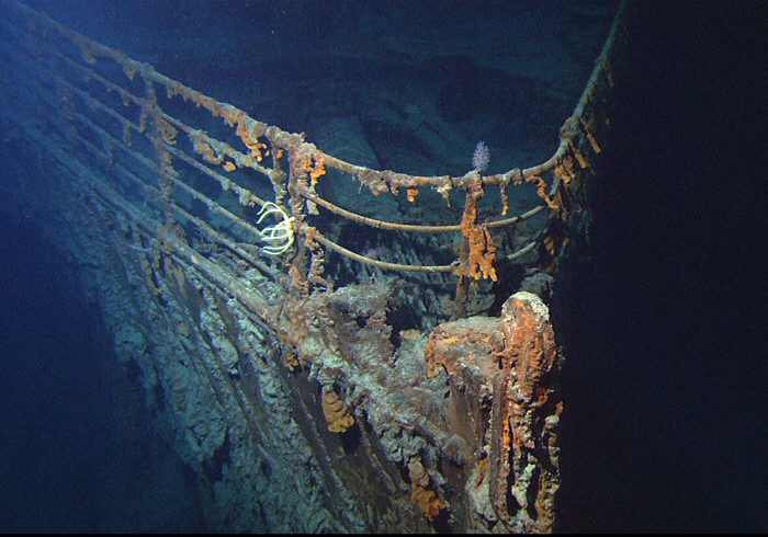 07 - Today she sadly rusts away due to microbes eating the iron in her hull These things cover the ship and are known as 039rusticles039